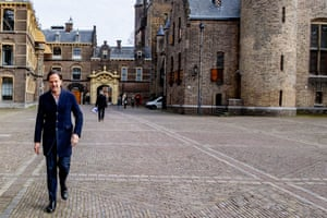 Dutch prime minister Mark Rutte at The Hague, Netherlands on 8 March 2021.