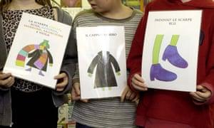 Children learning Italian