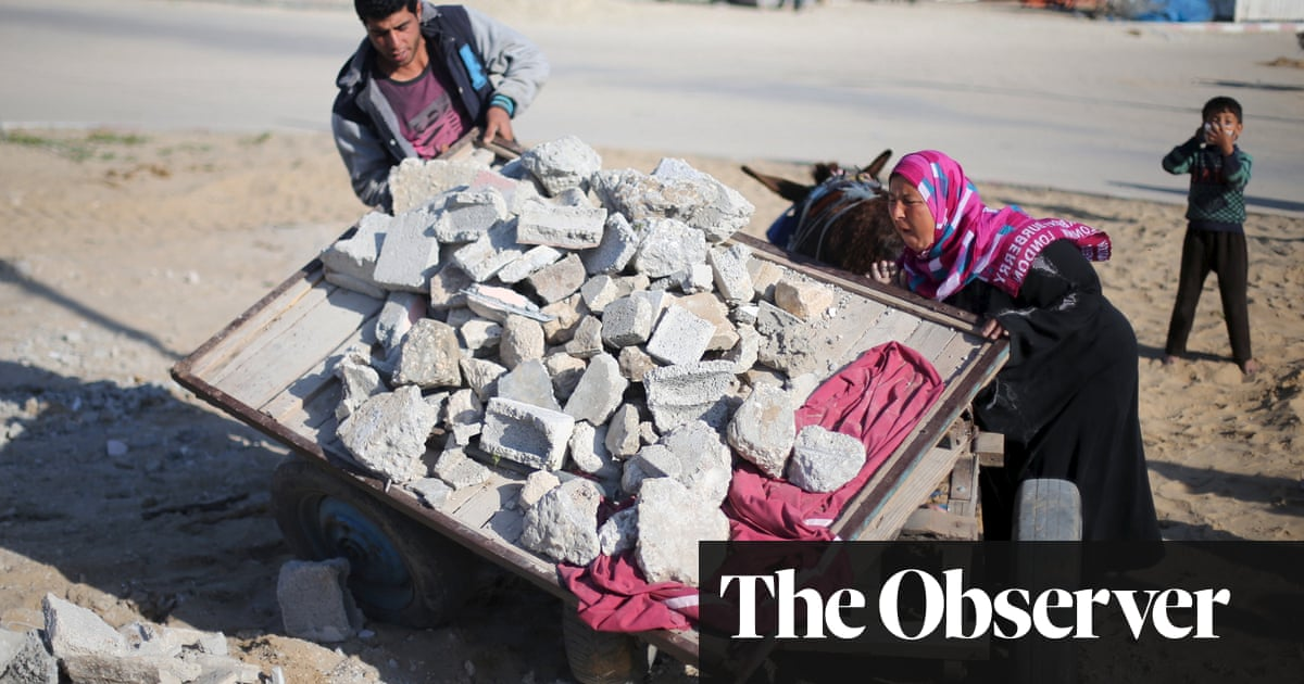 Gazans recycle bomb wreckage to beat the blockade