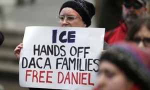 A protest calling for the release of detained Daca participant Daniel Ramirez Medina, Seattle, February 2017