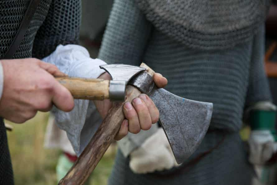 Axes are adjusted for battle
