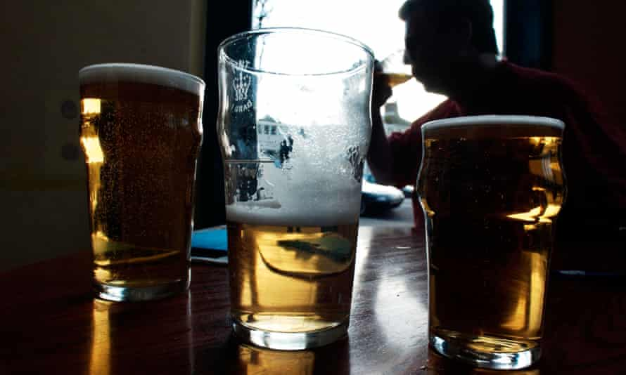 Three pints of beer