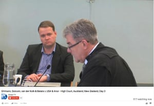 A screengrab of the extradition hearing from Auckland high court on 31 August.