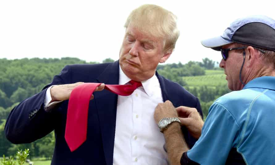 Donald Trump attends at a ribbon-cutting event for a new business venture, Albemarle Estate, Virginia, this week.