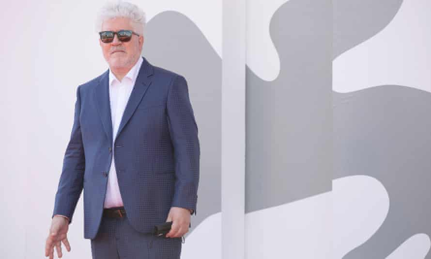 Pedro Almodóvar premiered his latest film, The Human Voice, at the Venice film festival this week.
