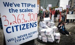 Anti-TTIP protesters