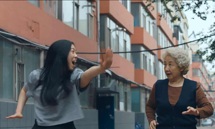 Awkwafina, left, and Zhao Shuzhen in The Farewell.