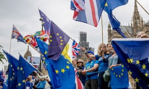 Stop Brexit Supporters Rally outside Of Parliament ahead of MPs Voting On Lords' Amendments