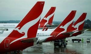 Qantas planes on tarmac