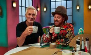 Crafty geezers ... Martin Kemp and Keith Lemon