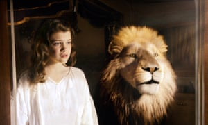 Aslan: a guardian angel? Here shown in a scene from The Chronicles of Narnia: The Voyage of the Dawn Treader.