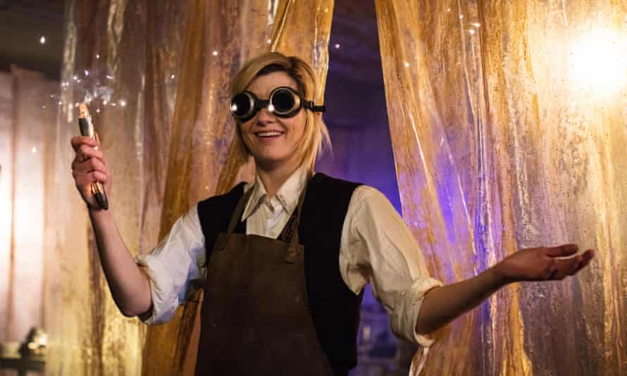 Jodie Whittaker in episode one of the new series, which aired on Sunday.