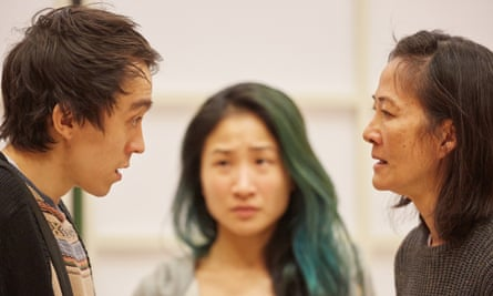 Leo Wan, Collateral's Kae Alexander and Rosalind Chao in rehearsals for The Great Wave.