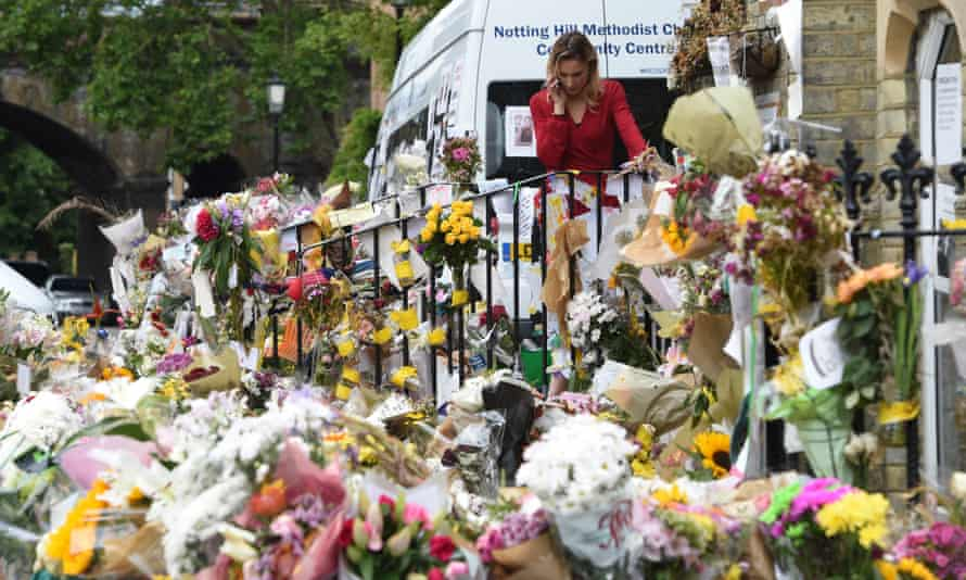 Flowers, photographs and messages of condolences