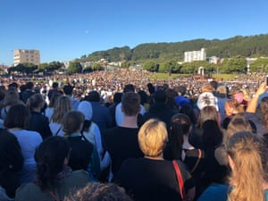 People turn out to The Basin for the Wellington Vigil in Wellington, New Zealand to support the victims of the Christchurch Terror attacks.