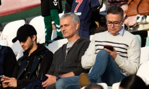 José Mourinho, pictured at the Primeira Liga match between Vitória and Santa Clara in December.