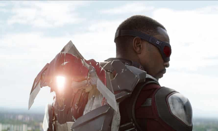 Anthony Mackie as Sam Wilson in Captain America: The Winter Soldier.
