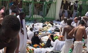 Hajj crush in Mina, near Mecca, Saudi Arabia