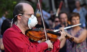A member of the orchestra of Opera Australia.