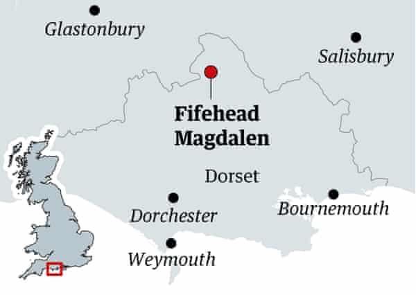 fifehead magdalen map, dorset