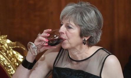 Theresa May at the Lord Mayor's banquet