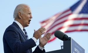 Biden speaking in Gettysburg, Pennsylvania, moments ago.