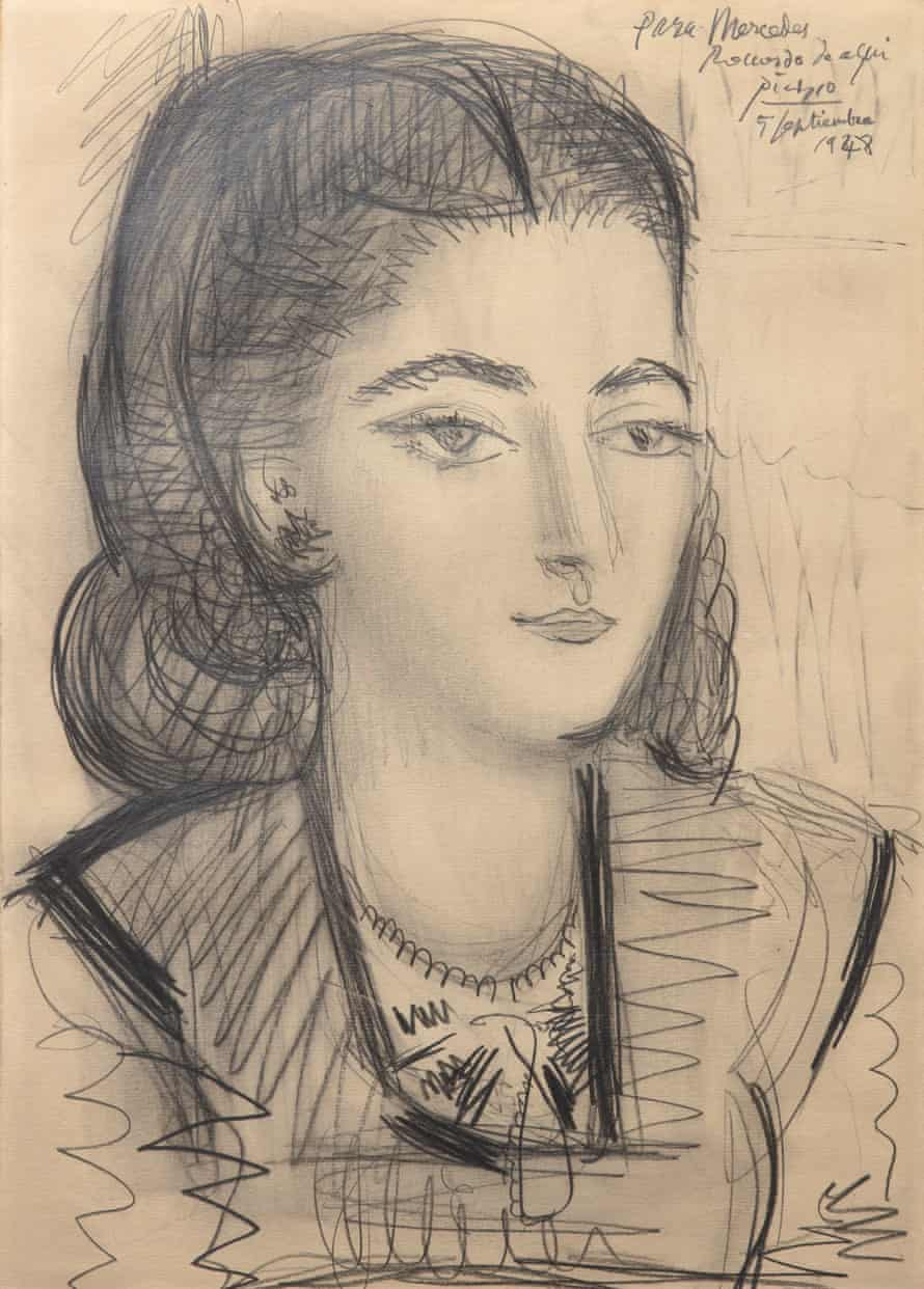 Portrait of Mercedes Sánchez Cruz-López by Pablo Picasso, 1948.