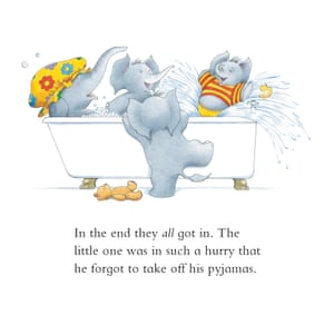 Mrs Large's bath ends in pandemonium, in Five Minutes Peace