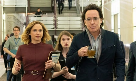 'What have you done today to earn your place in this crowded world?' … John Cusack as a shadowy biotech CEO.