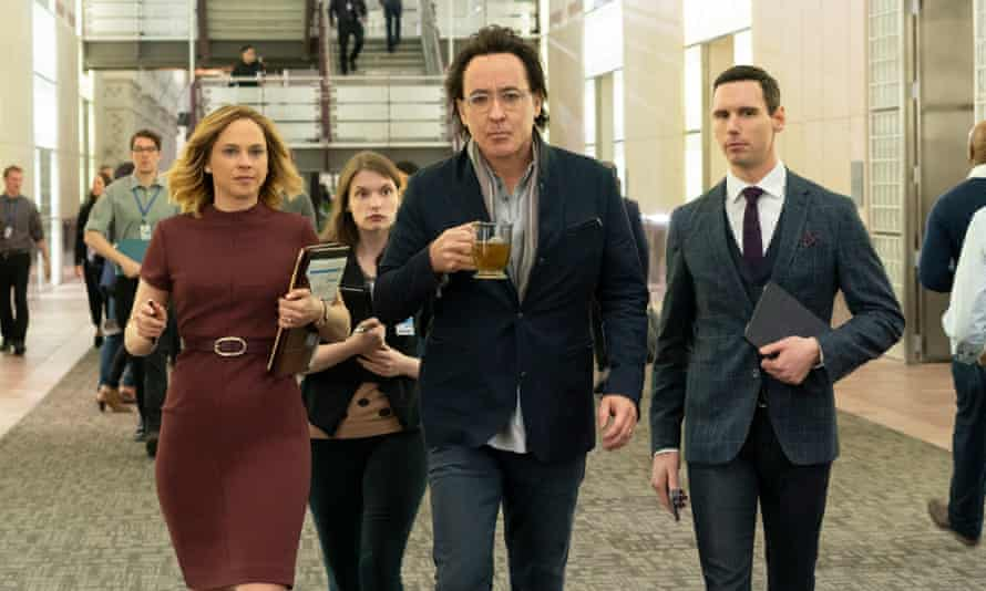 John Cusack in a scene from the new TV series Utopia