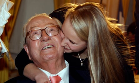 Jean-Marie Le Pen with his granddaughter Marion who has decided to stop going by the surname Marechal-Le Pen.