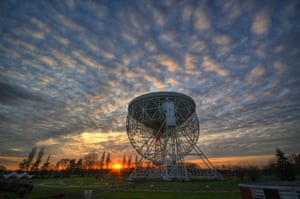 The Grade I-listed Lovell Telescope at Jodrell Bank. has been named a Unesco World Heritage site