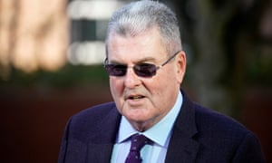 The former Sheffield Wednesday club secretary Graham Mackrell arriving at Preston crown court on Monday.