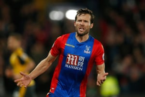 Yohan Cabaye celebrates scoring the second.
