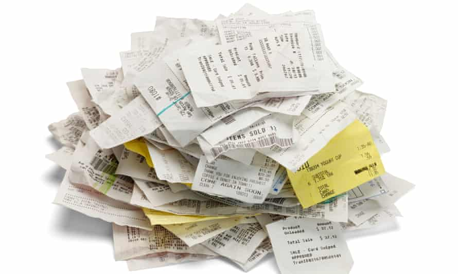 Receipts: a stack of these could come in handy.