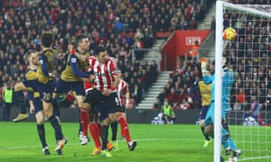 José Fonte, No6, scores for Southampton in a 4-0 victory over Arsenal in December