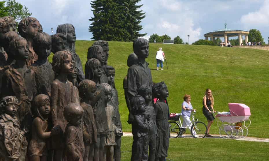 A memorial in Lidice to the children who died in Nazi concentration camps.