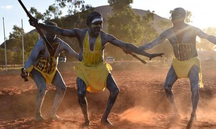 Dancers at the constitutional convention in Mutitjulu near Uluru