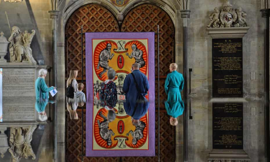 Grayson Perry's Death of a Working Hero at Salisbury Cathedral.