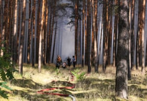 Potsdam, Germany: Firefighters tackle a forest fire in eastern Germany