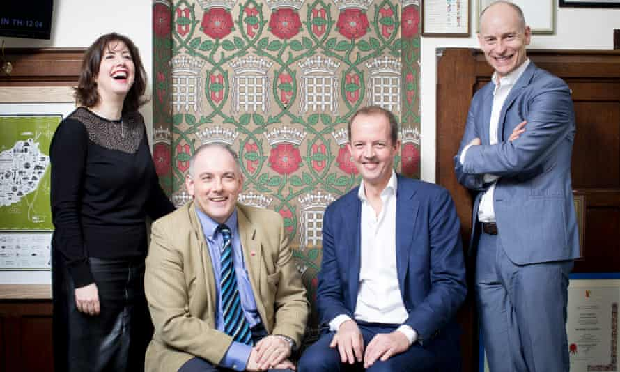Labour MP Lucy Powell, Conservatives Robert Halfon and Nick Boles, and Labour's Stephen Kinnock, who worked together on the 'common market 2.0' proposal.
