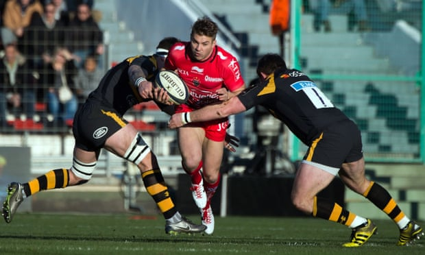 The Toulon wing Drew Mitchell saved the French club's proud home record by scoring a last gasp try against Wasps.