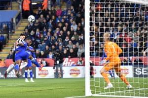 Ayoze Pérez heads home the only goal on Friday night.