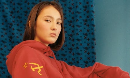 A hammer-and-sickle hoodie by Vetements/SV Moscow.