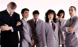 Here is a news … The Day Today, with, from left, Chris Morris, David Schneider, Patrick Marber, Rebecca Front, Doon Mackichan and Steve Coogan.
