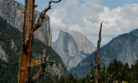 The magnificent granite scenery of Half Dome in the Yosemite national park in California – a protected area where disposal of nuclear waste would be illegal.