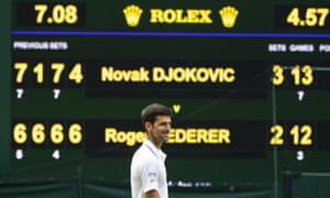 Novak Djokovic was perhaps the only man who could have predicted the climax to this year's final at Wimbledon.