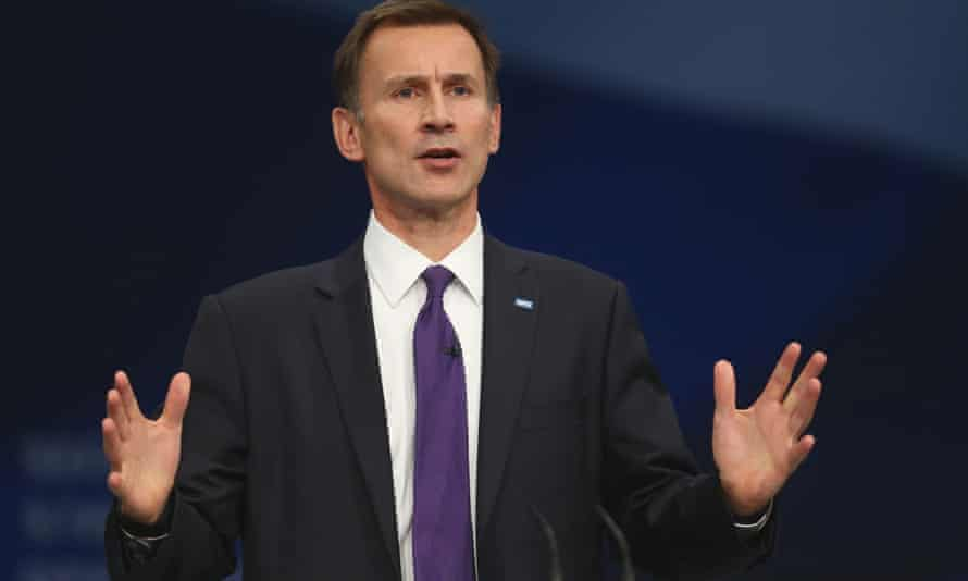 Jeremy Hunt at the Conservative conference in Manchester.