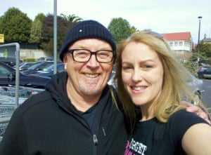 A woman with Dave Dobbyn