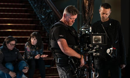 Camera operator Marty Smith the set of Bloom